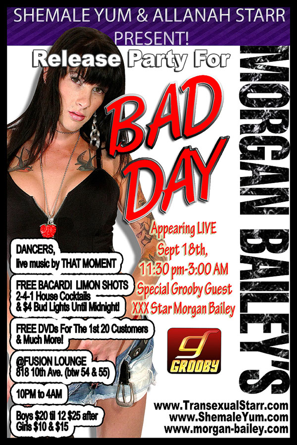morgan bailey bad day party 2 Last Reminder For Morgan Baileys Party Saturday Night!