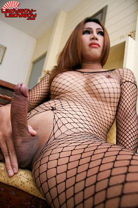 t ladyboy emmy ladyboy ladyboy 03 Frisky In Fishnets With Ladyboy Emmy On Ladyboy Ladyboy!